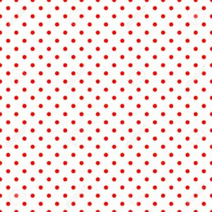 Red Polka Dots on White Pattern
